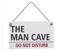 The Man Cave Do Not Disturb Hanging Sign...